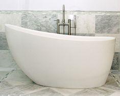 Oval stone free-standing soaking bathtub - ROSEBUD - Tyrrell and ...