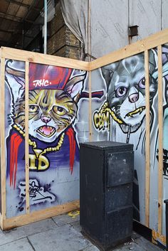 Street Art cats, London ...