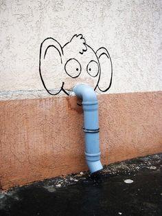 Cute and Clever Street Art of Alexey Menschikov - My Modern Met