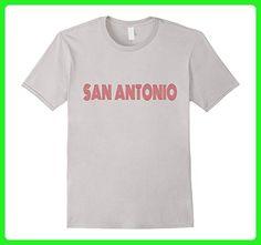 Mens San Antonio TX Retro Vintage Style Souvenir T-shirt XL Silver - Retro shirts (*Amazon Partner-Link)