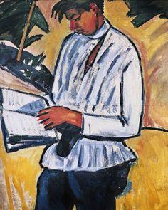 A Portrait of the Poet Velimir Khlebnikov. 1910 Mikhail Larionov - #artisticaMENte - @Libriamo Tutti