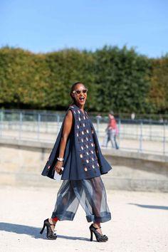 Organza pants! Spring 2015 Paris Fashion Week - Street Style via R29