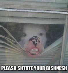 Jusht Keepin' Ush Shafe!  Thanksh!