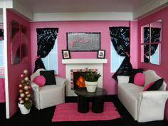 Diy Barbie house, Barbie Living Room:  Over The Apple Tree Blog