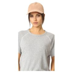 Rag & Bone Marilyn Baseball Cap (197 AUD) ❤ liked on Polyvore featuring accessories, hats, rose dust, baseball caps hats, brimmed hat, adjustable hats, rosebud hats and buckle hats