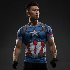 Captain America Compression Shirt – Novelty Force - Check it out while it's on sale too!