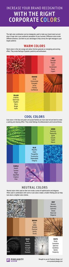 Increase your brand recognition with the right corporate colors. Warm Colors, Neutral Colors, Different Emotions, Branding, Target Audience, Marketing Ideas, Perception, Plays, Blogging