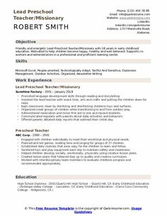 Resume Objective For Preschool Teacher - If you are the head of a business and want to promote yourself to be able to locate a new career then the Resume Preschool Teacher Resume, Teacher Resume Template, Preschool Teachers, Cv Template, Typing Skills, Resume Objective, Resume Skills, Education Quotes For Teachers, Kindergarten Reading
