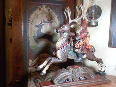 Pam Schifferl Santa riding Reindeer
