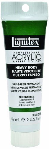 Liquitex Heavy Body Acrylic Paint 2 Ounce/Tube-Sap Green Permanent, By Reeves // $4.71  Features: - New - 094376921847 - Reeves-  >>Get Inspired! - Visit http://artcaffeine.imobileappsys.com