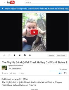 https://www.youtube.com/watch?v=N8N1aFBdcC8&feature=youtu.be Fall Creek Gallery & Gardens home of Cigar Store Indian Statue Shop + Julie's Flowers of Geist in Indianapolis, Indiana 317-493-8583 www.cigarstoreindianstatue.com #nightlygrind #cigars #indyart #fallcreekgallery #cigarstoreindian #cigarstoreindiansta