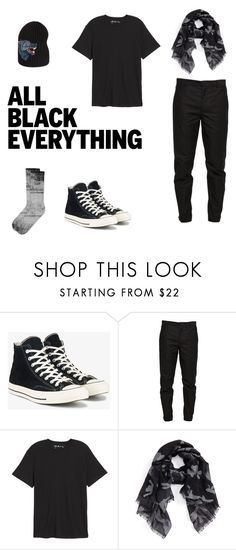 """""""Scarf Gang"""" by cargo-92 on Polyvore featuring Converse, Maison Margiela, Public Opinion, Valentino, Gucci, men's fashion, menswear and allblackoutfit"""