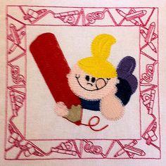 Drawing Kids - Free machine embroidery designs - Kreative Kiwi