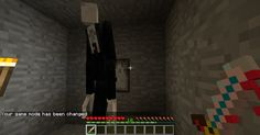 Minecraft Slender man. I'm doomed. But at least I'm in Herobrine mode. Or am I?