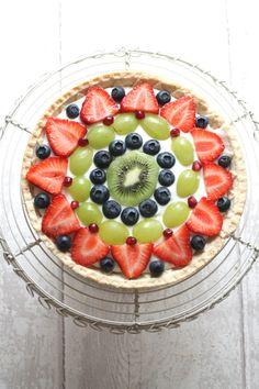Fresh Fruit Tart - a quick, easy yet impressive dessert made with sweet shortcrust pastry and fresh seasonal fruit