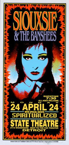 My toddler saw this image of Siouxsie in a book of rock posters and burst out laughing...