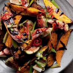 Yotam Ottolenghi's Roasted Sweet Potatoes and Fresh Figs recipe rocks Yotam Ottolenghi, Ottolenghi Recipes, Otto Lenghi, Vegetarian Main Course, Fresh Figs, Balsamic Reduction, Roasted Sweet Potatoes, Kraut, Side Dishes