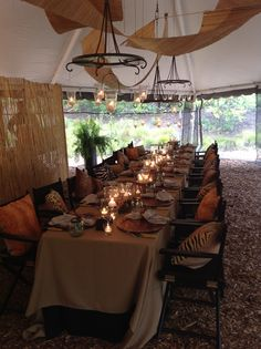 Safari Dinner Party at the Zoo!  Event styling by A Party Apart and BE.  What a fun idea