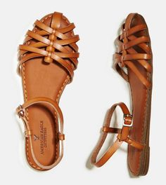 Tan Fisherman Sandals-American Eagle $29.95