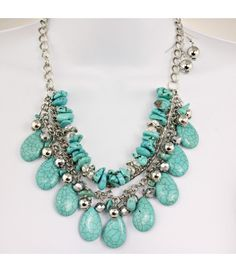 Turquoise Color Necklace Set