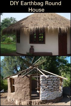 Could You Live in a Home Made From Earthbags? Mud House, Tiny House Cabin, Round House Plans, Earth Sheltered Homes, Earth Bag Homes, Earthship Home, Earthy Home Decor, Eco Buildings, Natural Homes