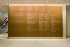 Weill Cornell Medical College - Donor Wall designed by Cloud Gehshan Associates