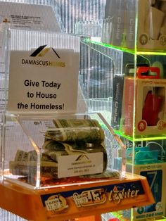 Charity - Non profit Vending box business opportunity now available. We place these in store on the counter tops. You only pay $1 to $2 per month per box to the non profit - Damascus Homes Community Center to help raise money to pay for low income housing, community center and homeless prevention.  Earn up to $3600 a year with only 20 boxes to 30 per month per box or $7200 annually. Easy to do and only once a month pick up from stores.  We have opportunities for 20 box routes and up. Minimal…