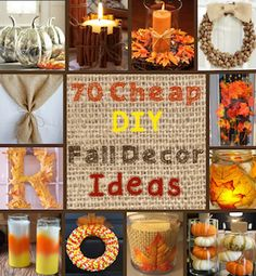 100 Cheap and Easy Fall Decor DIY Ideas Holiday: Cheap Fall diy fall decor crafts - Diy Fall Crafts Easy Thanksgiving Crafts, Autumn Crafts, Thanksgiving Table, Harvest Crafts, Holiday Crafts, Diy Autumn, Autumn Ideas, Craft Projects For Adults, Fall Projects