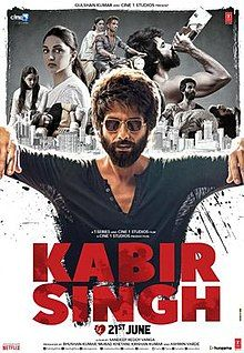 Kabir Singh is a 2019 Indian Hindi-language romantic drama film written and directed by Sandeep Vanga. It is a remake of his own Telugu f. Latest Movies, New Movies, Movies Free, Movies 2019, Latest Bollywood Movies, Movies Box, Imdb Movies, Popular Movies, Watch Movies