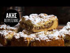 Μηλόπιτα από τον Άκη Πετρετζίκη. Νηστίσιμη και εύκολη συνταγή για τριφτή μηλόπιτα με τραγανή ζύμη και γέμιση με κομμάτια μήλου και ξηρούς καρπούς. Δοκιμάστε τη! Crescent Rolls, Cobbler, Coffee Cake, Muffins, Food And Drink, Youtube, Desserts, Crescents, Danish