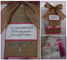 Gift basket idea - Kick up your feet and relax i wont be this mothers day i prolly be giving birth or already have and have the best present my lil drake