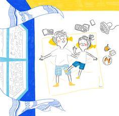 한여름의 휴가 - 디지털 아트 · 일러스트레이션, 디지털 아트, 일러스트레이션, 영상/모션그래픽, 일러스트레이션