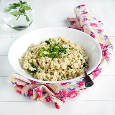 Goat Cheese & Spinach Barley Risotto
