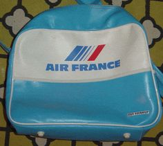 original air france flight bag