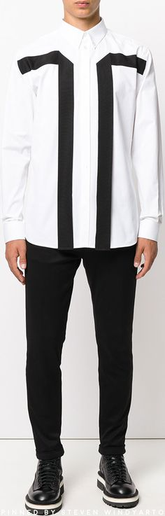 Givenchy - Contrast Panel Shirt #shirts
