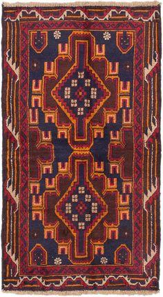 Hand-knotted Kazak Dark Navy, Orange Wool Rug
