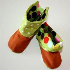 baby (high and low) boots Free pattern and tutorial - bottes hautes et basses avec patron et tuto gratuits