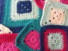 Hekel Idees: Hekel Tutoriaal: Soliede Vierkant Crochet Box, Crochet Granny, Baby Blanket Crochet, Crochet Motif, Knit Crochet, Crochet Patterns, Granny Square Blanket, Granny Squares, Beautiful Crochet