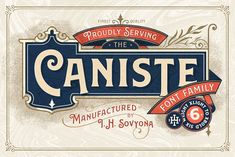 Caniste Font Family (65% OFF)  by ilhamherry on @creativemarket