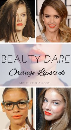 Orange lips trend beauty dare - click to join the challenge! | Michellephan.com