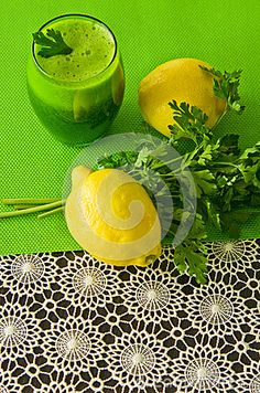 A healthy vegetable parsley drink in glass. Food still life photo.