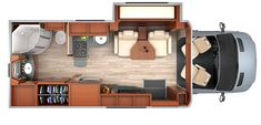 Leisure Travel Vans Unity MB murphy bed floorplan