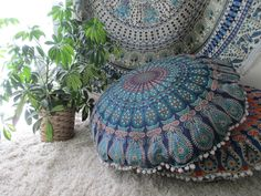 Floor Cushions Bring A Soft Cozy Feel To Any Living Or Family Room