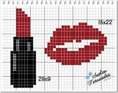 Tiny Cross Stitch, Cross Stitch Letters, Cross Stitch Needles, Cross Stitch Designs, Cross Stitching, Cross Stitch Embroidery, Embroidery Patterns, Stitch Patterns, Knitting Machine Patterns