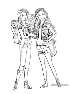 People Coloring Pages, Barbie Coloring Pages, Coloring Book Art, Cute Coloring Pages, Coloring Pages For Girls, Doodle Coloring, Cartoon Coloring Pages, Disney Coloring Pages, Coloring For Kids