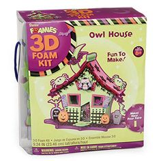Kids' Felt Craft Kits - Foamies 3D Foam Kit Halloween Haunted House with Owl  Craft Kit for Kids ** You can find out more details at the link of the image.