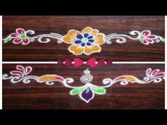 Easy and Simple Door Rangoli For Diwali Rangoli Designs Latest, Colorful Rangoli Designs, Rangoli Designs Images, Beautiful Rangoli Designs, Rangoli Borders, Rangoli Border Designs, Indian Rangoli, Kolam Rangoli, Rangoli With Dots