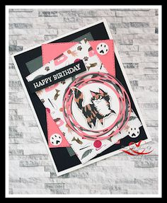 Pampered Pets Bundle (#154069) features Playful Pet stamp and Pets dies.  Card design also uses the Playful Pets DSP Dog Cards, Kids Cards, Homemade Christmas Cards, Stamping Up Cards, Animal Cards, Card Sketches, Cute Cards, Greeting Cards Handmade, Pets