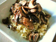 Eighty Twenty: 80--- Barley Risotto with Fennel and Crimini Mushroom Saute