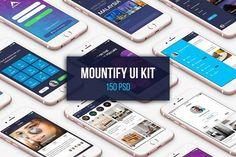 Mountify Mobile UI Kit by Best UI on @creativemarket